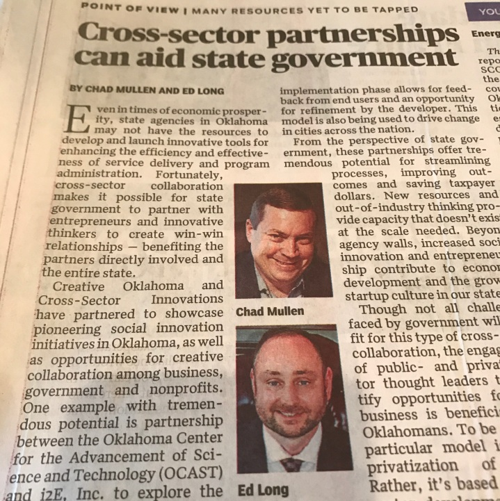 Cross-Sector Partnerships Can Aid StateGovernment